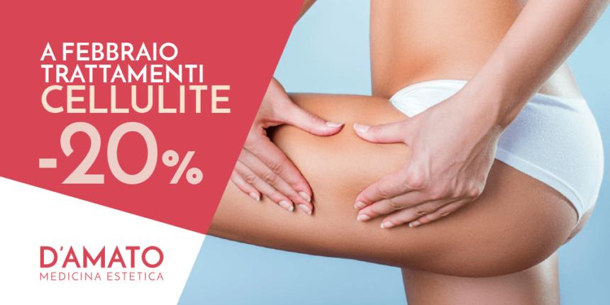 Promozione Febbraio: trattamenti Cellulite -20%